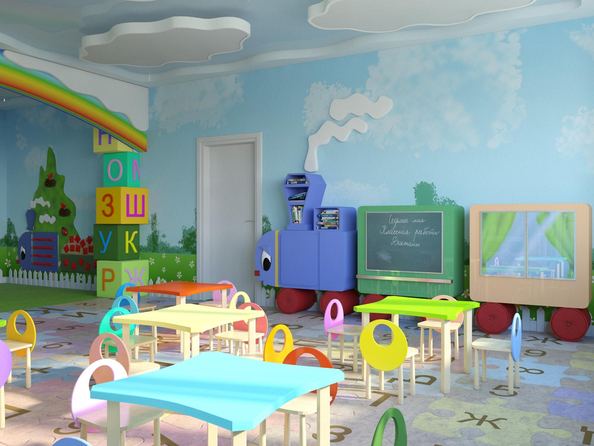 Интерьер детского сада фото